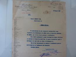 """Lettera Commerciale """"MONTECATINI Ufficio Personale - Stabilimento Di Romano Lombardo"""" 1927 - Italia"""