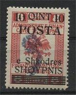 "ALBANIA, OVERPRINT """"COMET"""" 10 QUINT 1919,NH - Albanie"