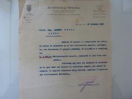 """Lettera Commerciale """"JUTIFICIO DI  SPEZIA"""" 1928 - Italie"""