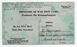 - PRISONER OF WAR POST CARD 19.1.1946 - A ETUDIER - - Covers & Documents