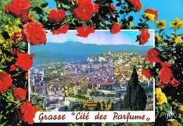 """06 Grasse """"Cité Des Parfums"""" French Riviera  Belle Vue Générale Aérienne Sous Une Tonnelle De Roses !  TBE - Grasse"""