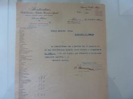 """Lettera Commerciale """"MONTECATINI Servizio Segreteria - Stab. S. GIORGIO NOGARO"""" 1925 - Italia"""