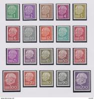 SARRE N° 362/381 Neufs** - 1957-59 Fédération