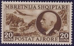 Albania 1939 - Vittorio E. III N. A4 MNH - 9. Occupazione 2a Guerra (Italia)