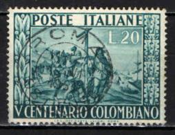 ITALIA - 1951 - 5° CENTENARIO DELLA NASCITA DI CRISTOFORO COLOMBO - USATO - 6. 1946-.. Repubblica