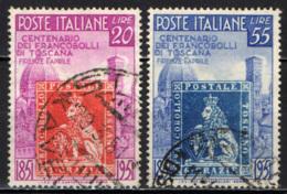 ITALIA - 1951 - CENTENARIO DEI PRIMI FRANCOBOLLI DI TOSCANA - USATI - 6. 1946-.. Repubblica