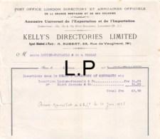 16-1377    1923 POST OFFICE LONDON DIRECTORY ET ANNUAIRES OFFICIELS DE LA GRANDE BRETAGNE ET DE SES COLONIES KELLY S DIR - France