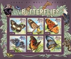 Sierra Leone   2015 Fauna  Butterflies - Sierra Leone (1961-...)