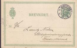 Denmark Postal Stationery Ganzsache Fr. VIII. Brevkort Brotype Ia KJØBENHAVN K.K.B. 1912 FREDERIKSSUND (2 Scans) - Postal Stationery