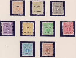 Occ. Anglo Americana Sicilia 1/9 MNH - Occup. Anglo-americana: Sicilia