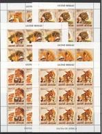 ZZ208 2005 GUINE-BISSAU FAUNA WILD ANIMALS OF AFRICA ALBERT SCHWEITZER 9SET MNH - Big Cats (cats Of Prey)