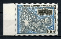 TAAF PA N° 20 ** Neuf  MNH Superbe C 125 € Carte Des îles Kerguelen - Poste Aérienne