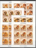 ZZ209 !!! IMPERFORATE 2005 GUINE-BISSAU FAUNA WILD ANIMALS OF AFRICA ALBERT SCHWEITZER 9SET MNH - Big Cats (cats Of Prey)