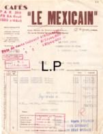 30-1579    1943  CAFES LE MEXICAIN A POITIERS - M JOLLY A LATILLE VIENNE - Francia