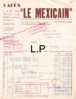 30-1580    1943  CAFES LE MEXICAIN A POITIERS - M JOLLY A LATILLE VIENNE - 1900 – 1949
