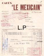 30-1585   1943  CAFES LE MEXICAIN A POITIERS - M JOLLY A LATILLE VIENNE - Francia