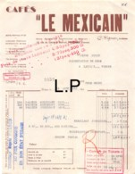 30-1586    1943  CAFES LE MEXICAIN A POITIERS - M JOLLY A LATILLE VIENNE - Francia