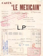 30-1587    1943  CAFES LE MEXICAIN A POITIERS - M JOLLY A LATILLE VIENNE - Francia