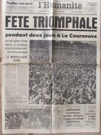 Journal L'Humanité (10 Sept 1962) Fête De L'Huma - Evasion Pouillon - Bidault Expulsé - Journaux - Quotidiens