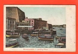 Malta La Valletta Morsamuscetto Landing Plage Old Cpa Postcard - Malta