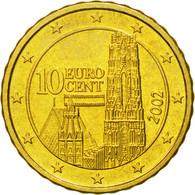 Autriche, 10 Euro Cent, 2002, FDC, Laiton, KM:3085 - Autriche