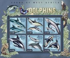 Sierra Leone   2015 Fauna  Dolphins - Sierra Leone (1961-...)