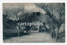 - CPA AUREILLE (13) - Entrée Du Village 1933 - La Mairie - Edition Darmure - - Autres Communes