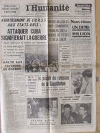 Journal L'Humanité (12 Sept 1962) Avertissement URSS Aux E.U - Projet Révision Constitution - Journaux - Quotidiens