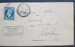 Rare Lettre De Châtillon Sur Marne Pour Paris ( 1858 ) - Cachet PC 3842 - Storia Postale