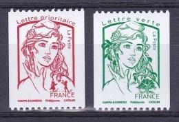 France 2016 - Yv N° 5017 & 5018 ** - Marianne Et La Jeunesse - Roulette Rouge Et Verte - Francia