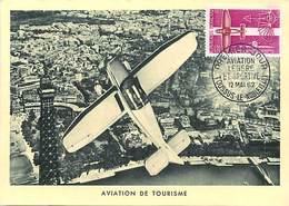 Gd Format :environ15cms X10cms -ref Y574-aviation - Carte Premier Jour - Avion De Tourisme - Aero Clubs -aero Club  - - 1946-....: Ere Moderne