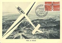 Gd Format :environ15cms X10cms -ref Y573-aviation - Carte Premier Jour -avion - Vol A Voile  - - 1946-....: Ere Moderne