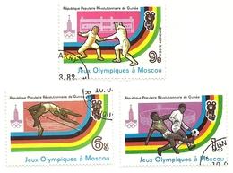 1981 - Guinea Repubblica 681 + 686 + PA 139 Olimpiadi Di Mosca - Estate 1980: Mosca