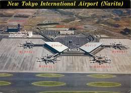 Gd Format :environ15cms X10cms -ref Y572-aviation - Avions -avion - Japon -japan -narita -new Tokyo Airport   - - Aérodromes