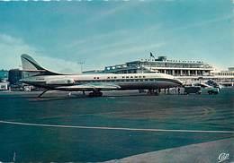 Gd Format :environ15cms X10cms -ref Y571-aviation - Avions -avion Air France - Aeroport De Nice - Airport - - Aérodromes