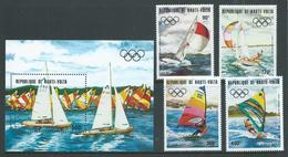 Upper Volta Burkina Faso 1983 Los Angeles Olympic Games Yachting Set 4 & Miniature Sheet MNH - Burkina Faso (1984-...)