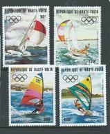 Upper Volta Burkina Faso 1983 Los Angeles Olympic Games Yachting Set 4 MNH - Burkina Faso (1984-...)