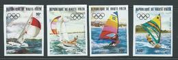 Upper Volta Burkina Faso 1983 Los Angeles Olympic Games Yachting Set 4 Imperforate MNH - Burkina Faso (1984-...)