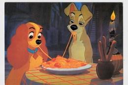 """Walt Disney  """"Belle Et Le Clochard """"  Dégustant Des """"spaguettis...""""  N°7 TBE - Disney"""