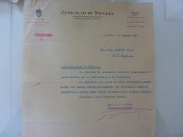 "Lettera ""JUTIFICIO LA SPEZIA"" La Spezia 1933 - Italia"