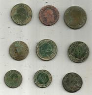 Vrac Monnaies , FRANCE , LOT DE 9 Monnaies ,2 Scans , Frais Fr 4.00 E - Monnaies & Billets