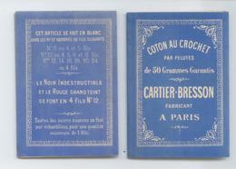 BRODERIE DENTELLES TEXTILE RARE CARNET DEPLIANT 8 VOLETS COTON AU CROCHET CARTIER BRESSON PARIS TBE VOIR DETAILS - Autres
