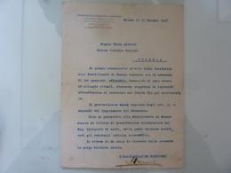 """Lettera """"UNIONE ITALIANA FRA CONSUMATORI E FABBRICANTI DI CONCIMI E PRODOTTI CHIMICI"""" 1918 - Italia"""