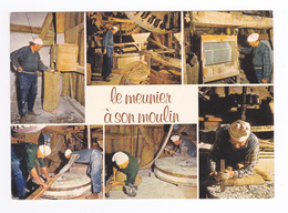 28 BAZOCHES En DUNOIS Vers Chateaudun Le Meunier à Son Moulin Vieux Métier Outils - Chateaudun