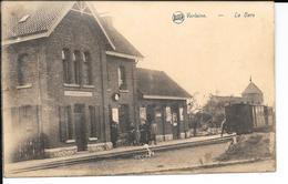 VERLAINE - LA GARE - TRAM / TRAIN - Edit: Lemye-Havelange, Stockay - Circulé: 1928 - Etat: Voir 2 Scans - Verlaine