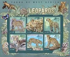 Sierra Leone   2015 Fauna  Leopards - Sierra Leone (1961-...)