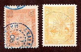 Madagascar N°73,74 Oblitérés TB  Cote 80 Euros !!! - Madagascar (1889-1960)