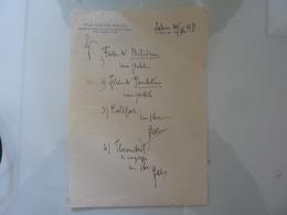 """Ricetta Farmaceutica """"Prof. FELICE BALDI Ordinario Clinica Malattie Mentali E Nervose - SIENA"""" 1951 - Manoscritti"""