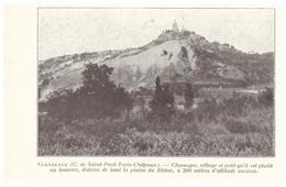 1924 - Iconographie - Clansayes (Drôme) - Vue Générale - FRANCO DE PORT - Vieux Papiers
