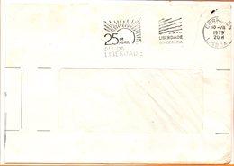 """Portugal, Lettre De Lisbonne, Flamme """"25 Avril, Jour De La Liberté"""" - 1910-... République"""
